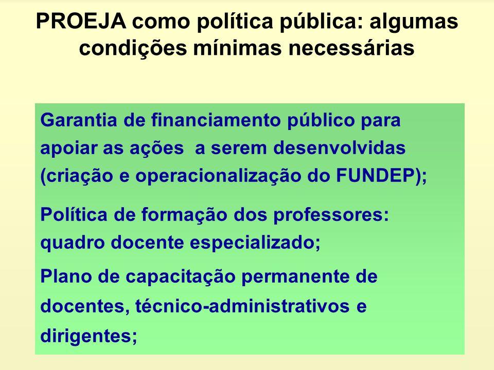 PROEJA como política pública: algumas condições mínimas necessárias