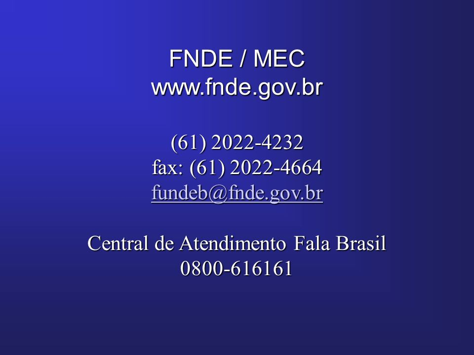 Central de Atendimento Fala Brasil
