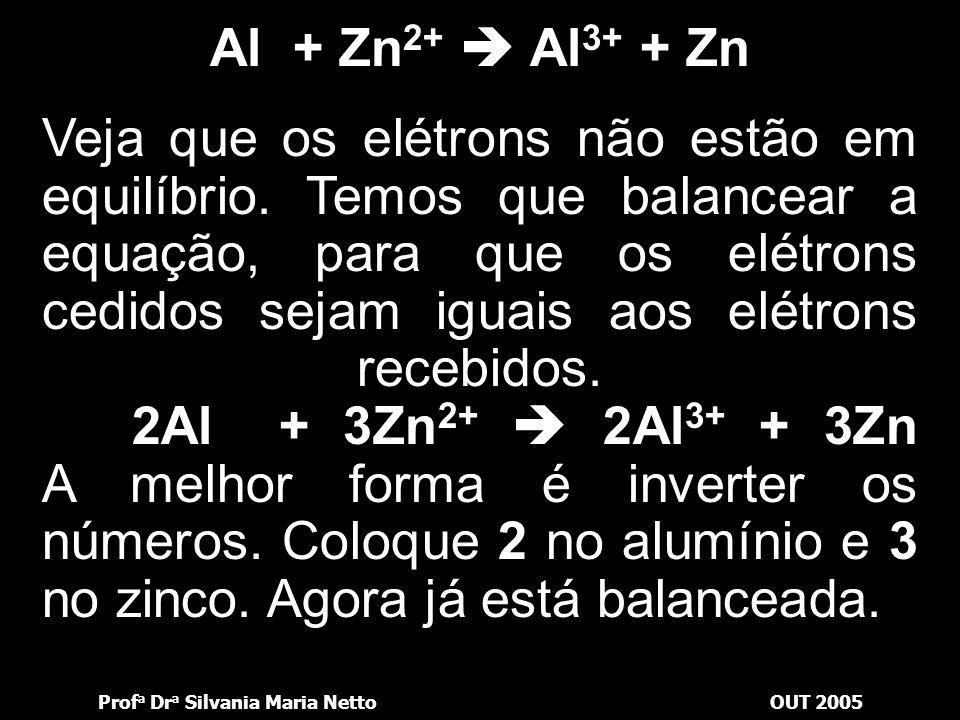 Al + Zn2+  Al3+ + Zn