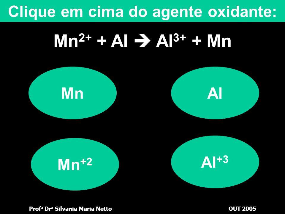 Clique em cima do agente oxidante: