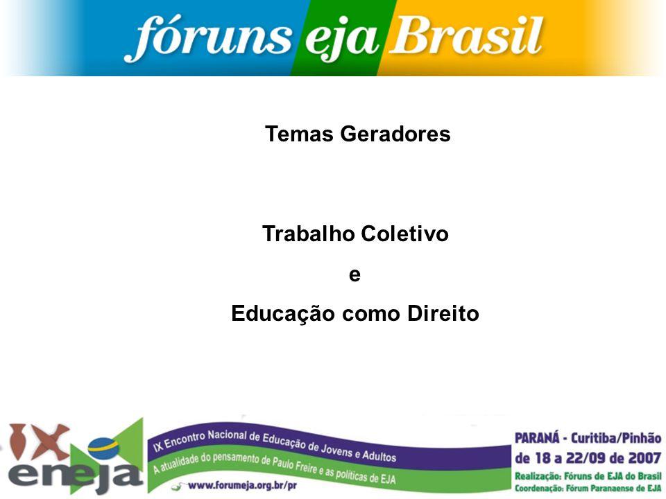 Temas Geradores Trabalho Coletivo e Educação como Direito