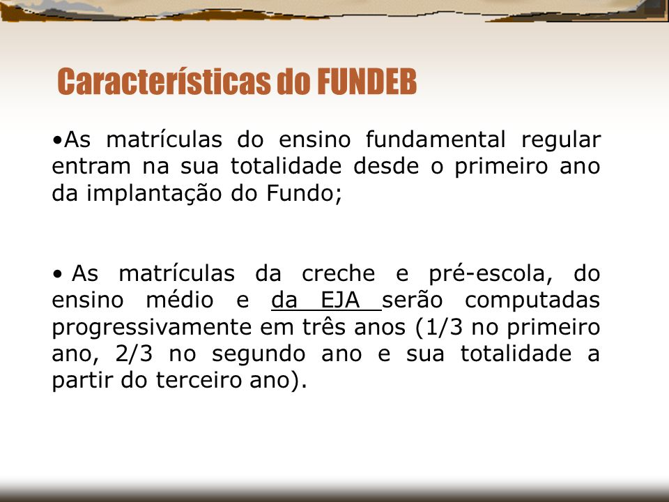 Características do FUNDEB