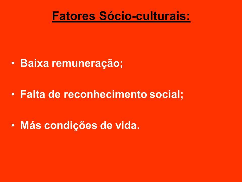 Fatores Sócio-culturais: