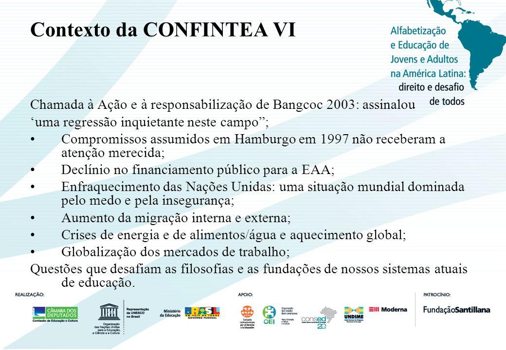 Contexto da CONFINTEA VI