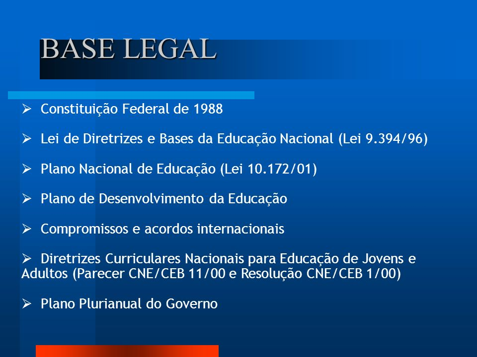BASE LEGAL Constituição Federal de 1988
