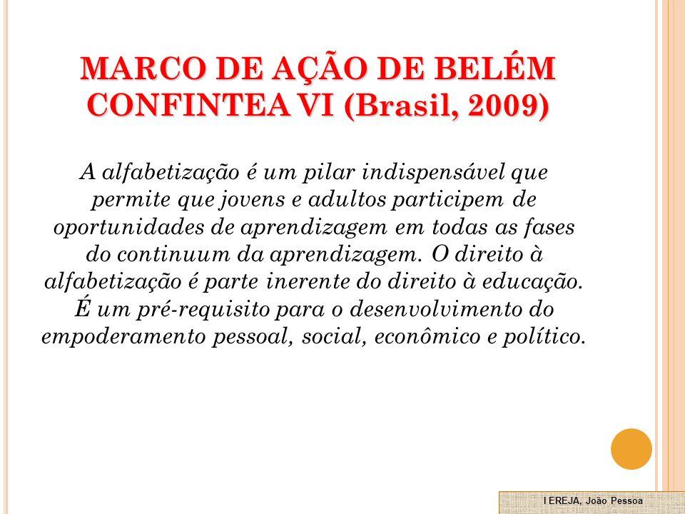 MARCO DE AÇÃO DE BELÉM CONFINTEA VI (Brasil, 2009)