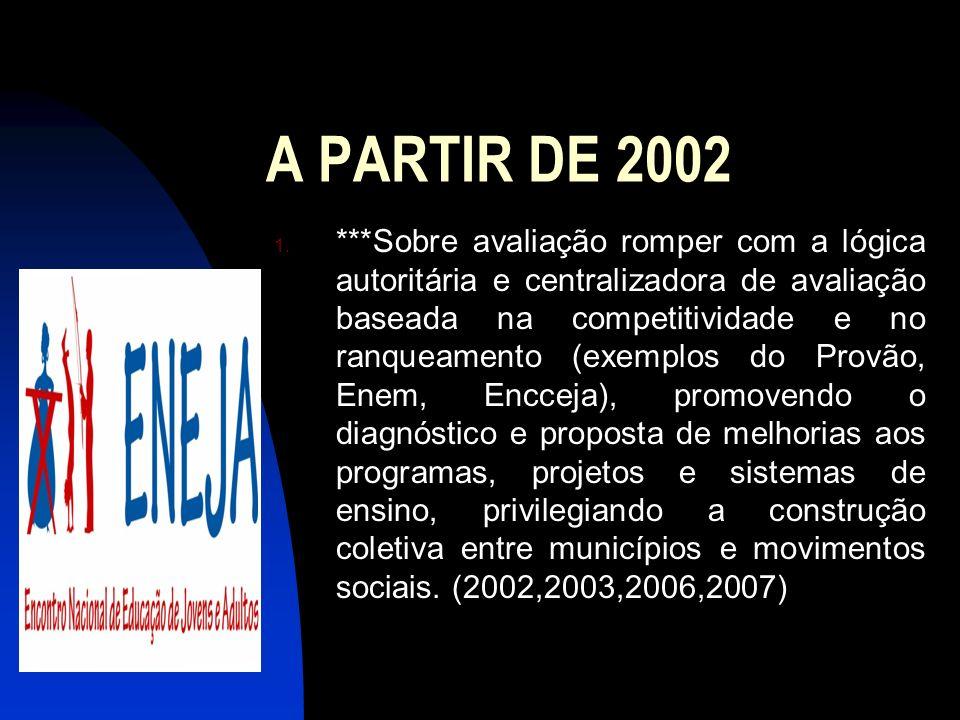 A PARTIR DE 2002