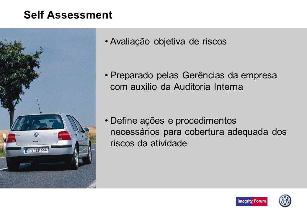 Self Assessment Avaliação objetiva de riscos