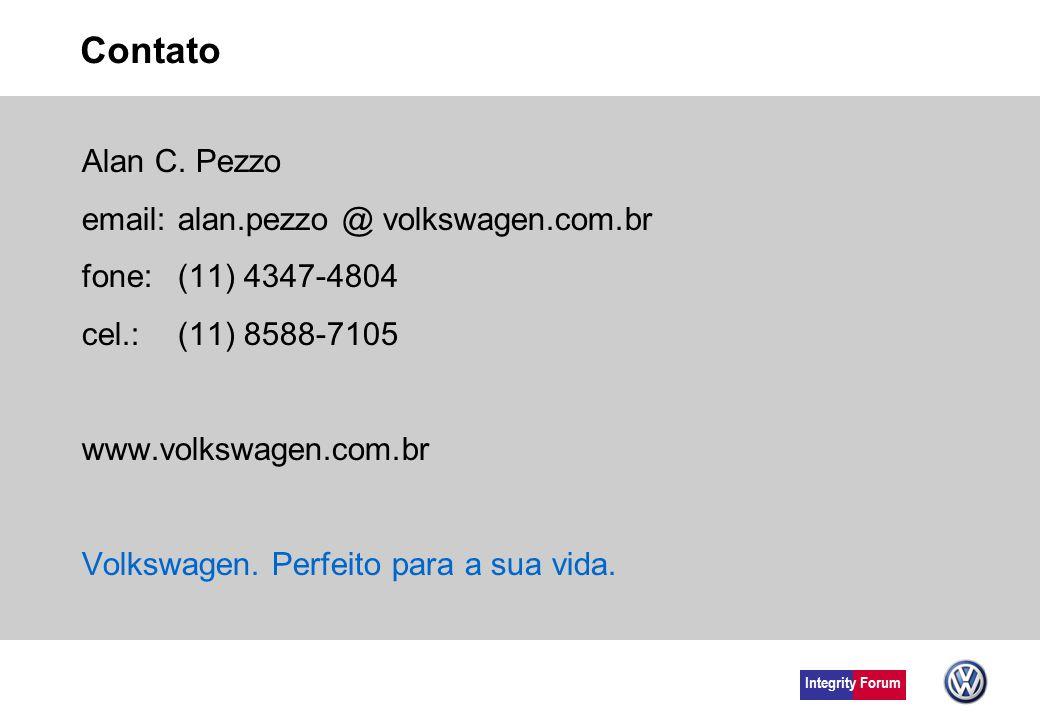 Contato Alan C. Pezzo email: alan.pezzo @ volkswagen.com.br