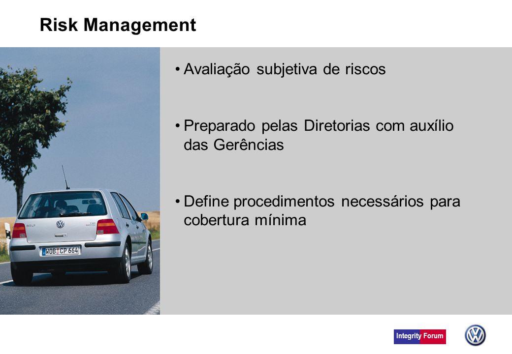 Risk Management Avaliação subjetiva de riscos