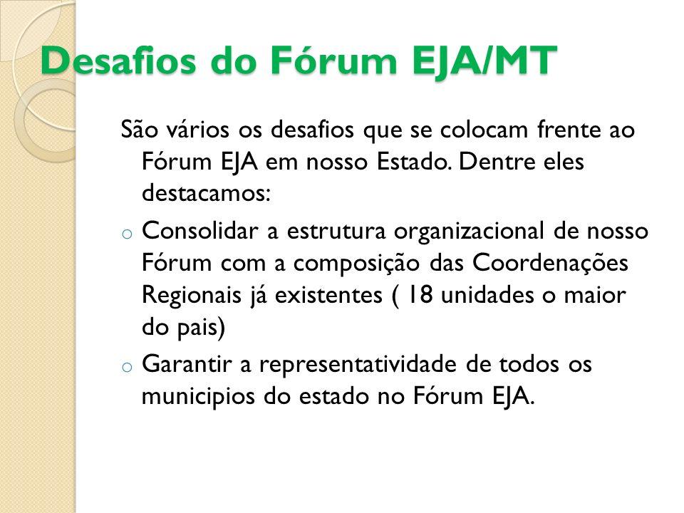 Desafios do Fórum EJA/MT