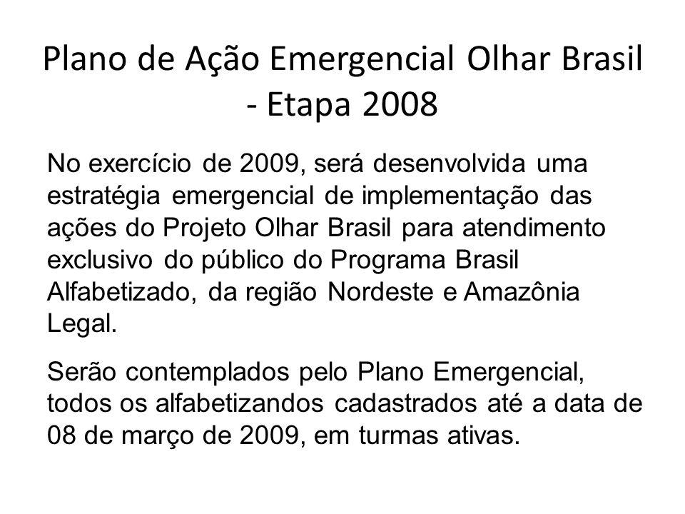 Plano de Ação Emergencial Olhar Brasil - Etapa 2008
