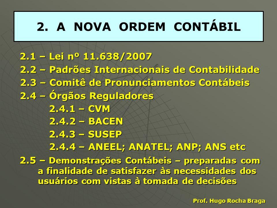 2. A NOVA ORDEM CONTÁBIL 2.1 – Lei nº 11.638/2007