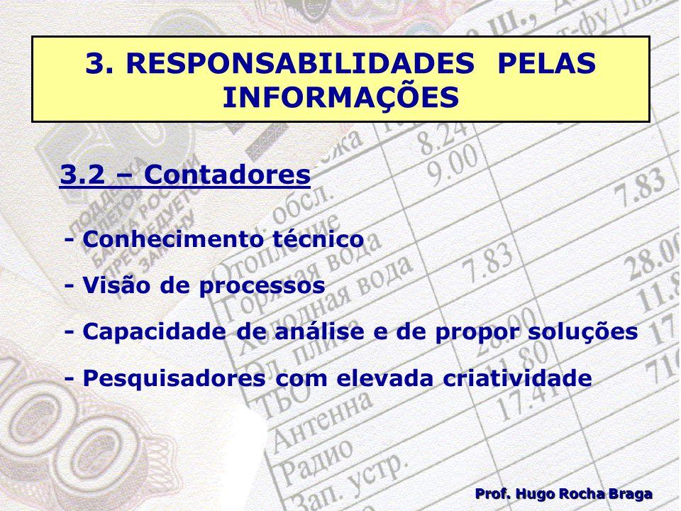 3. RESPONSABILIDADES PELAS INFORMAÇÕES