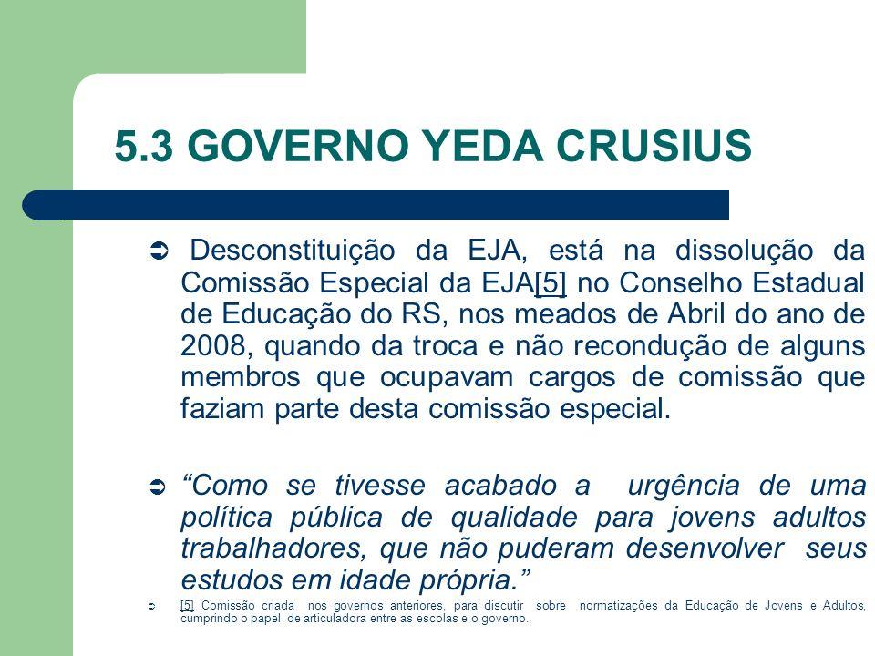 5.3 GOVERNO YEDA CRUSIUS