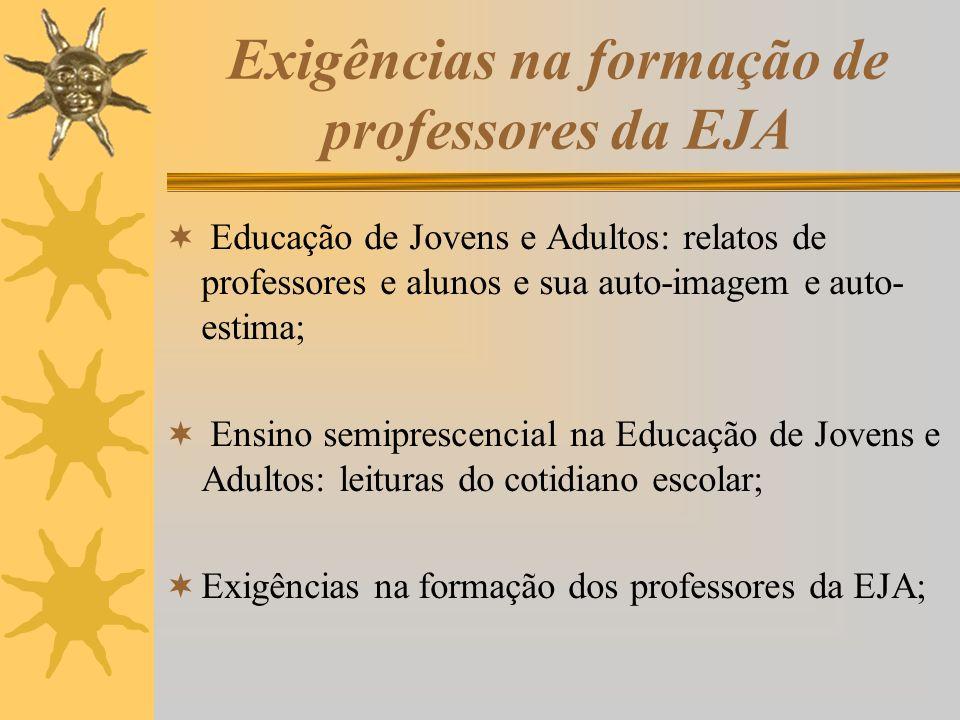 Exigências na formação de professores da EJA