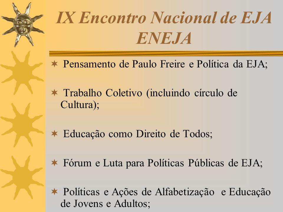 IX Encontro Nacional de EJA ENEJA