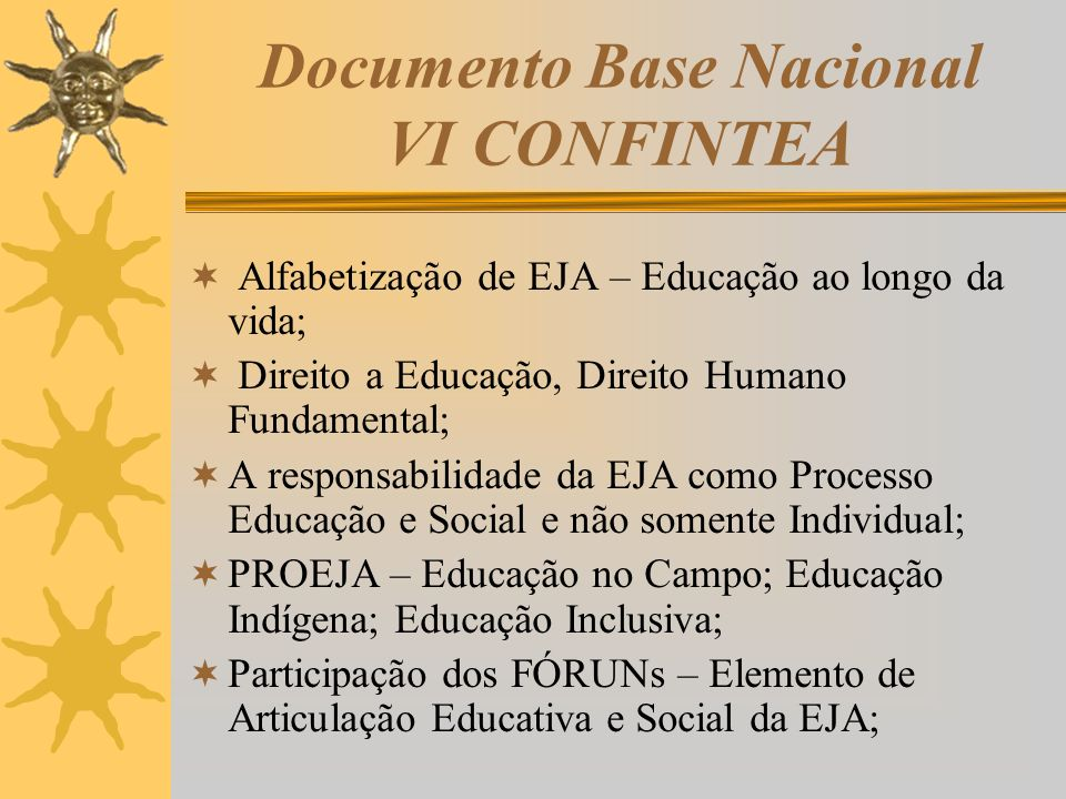 Documento Base Nacional VI CONFINTEA