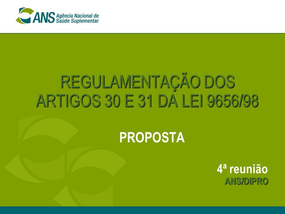 REGULAMENTAÇÃO DOS ARTIGOS 30 E 31 DA LEI 9656/98