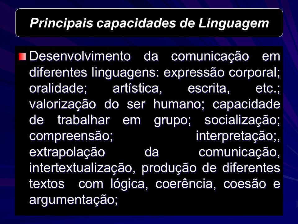 Principais capacidades de Linguagem