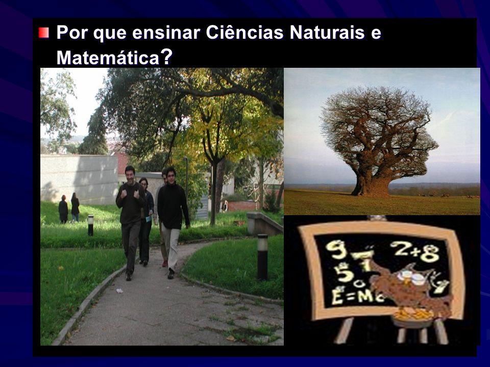 Por que ensinar Ciências Naturais e Matemática