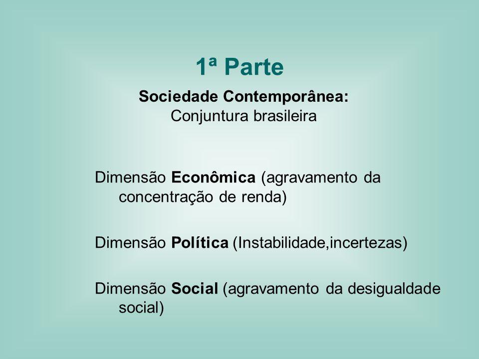 1ª Parte Sociedade Contemporânea: Conjuntura brasileira