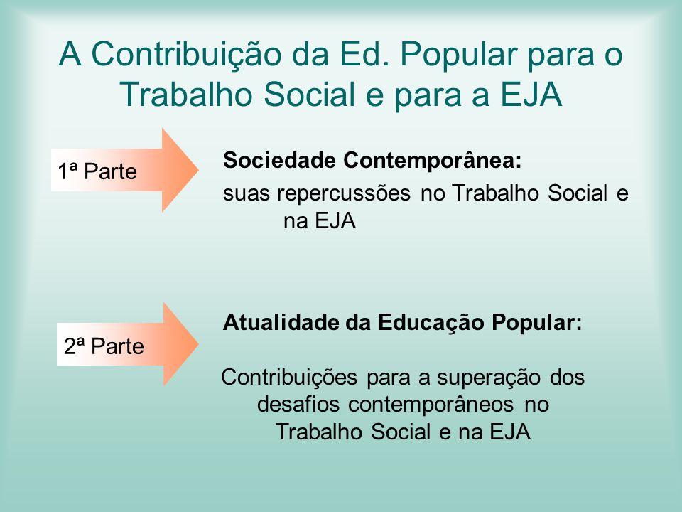 A Contribuição da Ed. Popular para o Trabalho Social e para a EJA