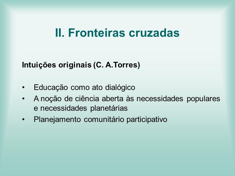 II. Fronteiras cruzadas
