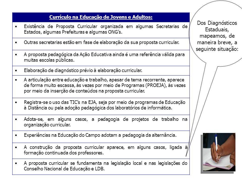 Currículo na Educação de Jovens e Adultos: