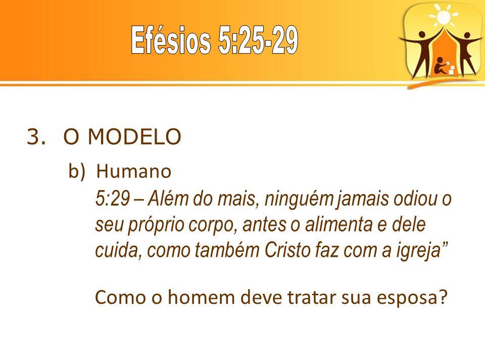 3. O MODELO b) Humano.