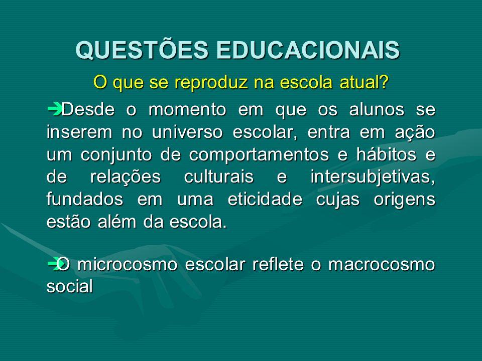 QUESTÕES EDUCACIONAIS