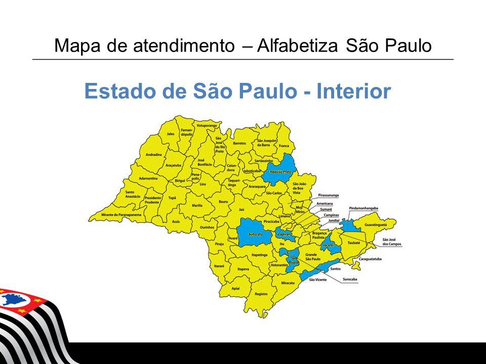 Mapa de atendimento – Alfabetiza São Paulo
