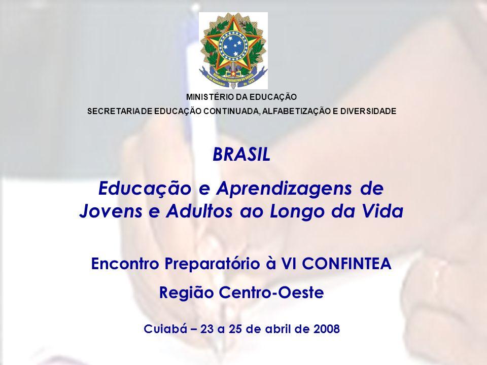 BRASIL Educação e Aprendizagens de Jovens e Adultos ao Longo da Vida