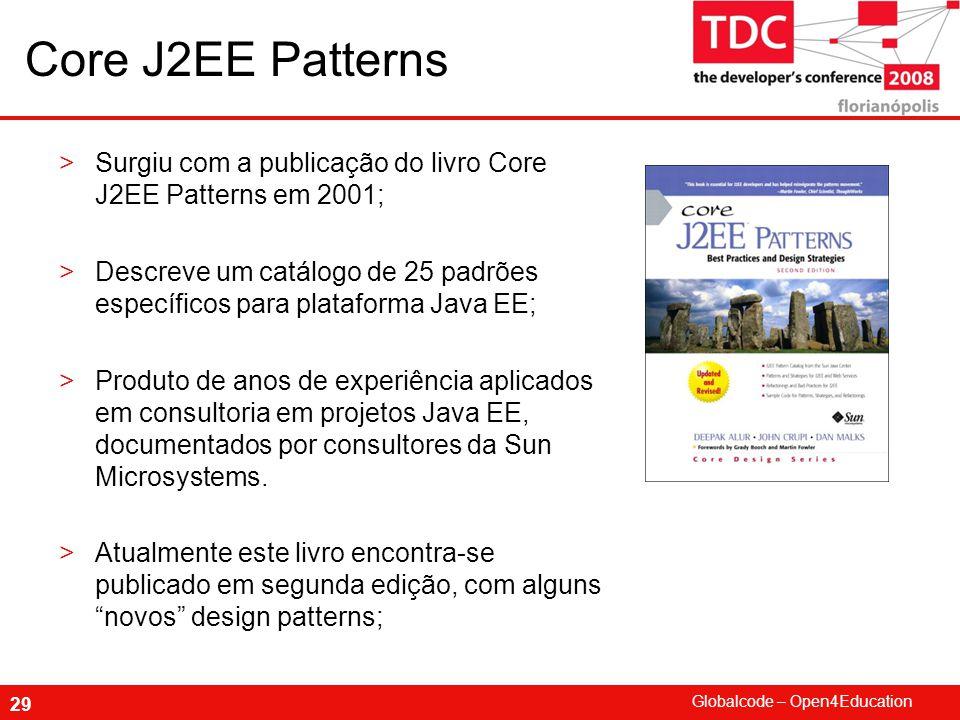 Core J2EE Patterns Surgiu com a publicação do livro Core J2EE Patterns em 2001;