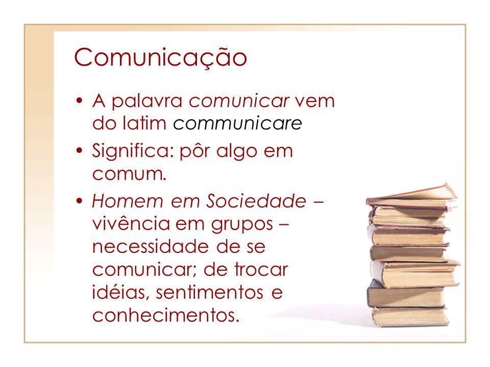 Comunicação A palavra comunicar vem do latim communicare