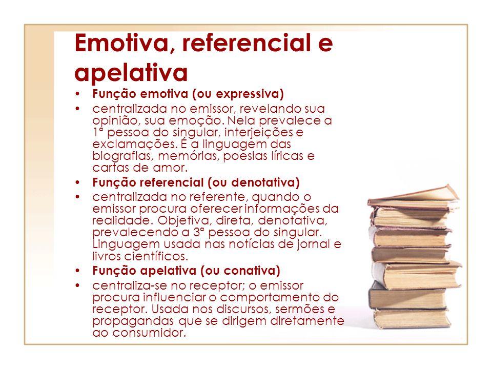 Emotiva, referencial e apelativa