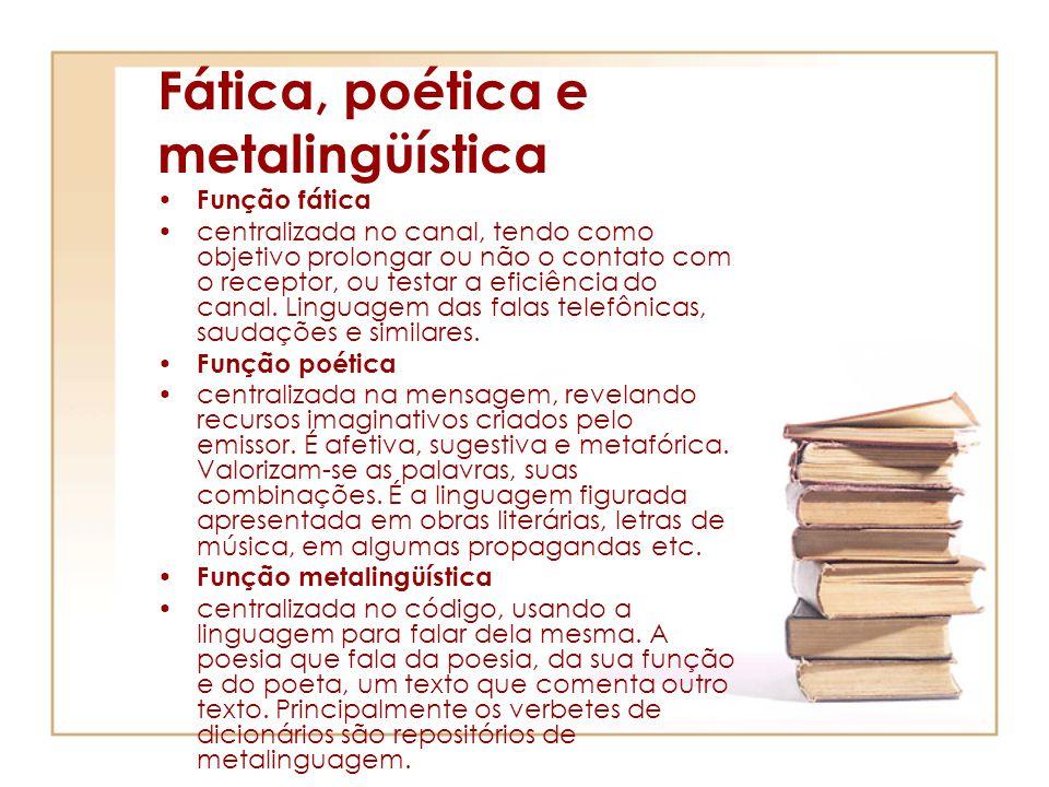 Fática, poética e metalingüística