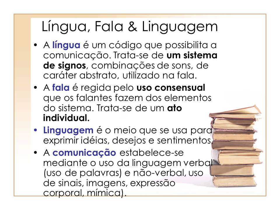 Língua, Fala & Linguagem
