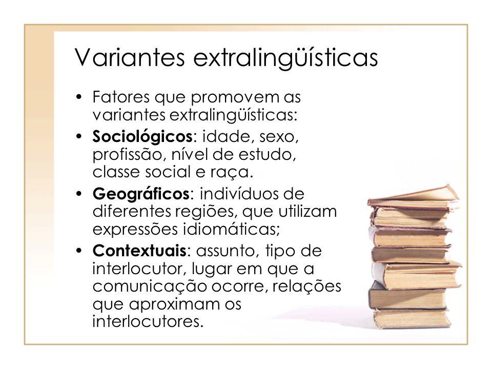 Variantes extralingüísticas