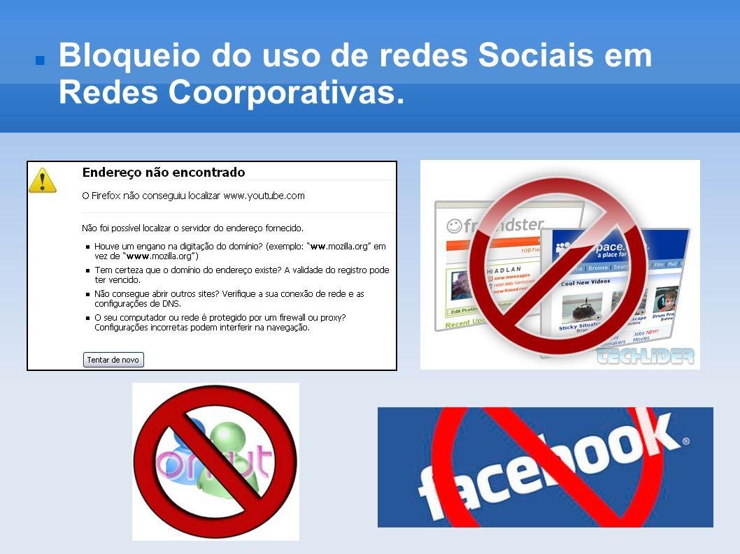 Bloqueio do uso de redes Sociais em Redes Coorporativas.