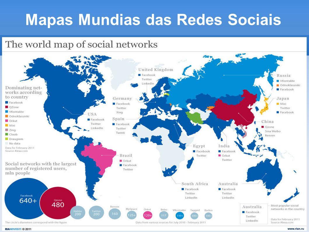 Mapas Mundias das Redes Sociais