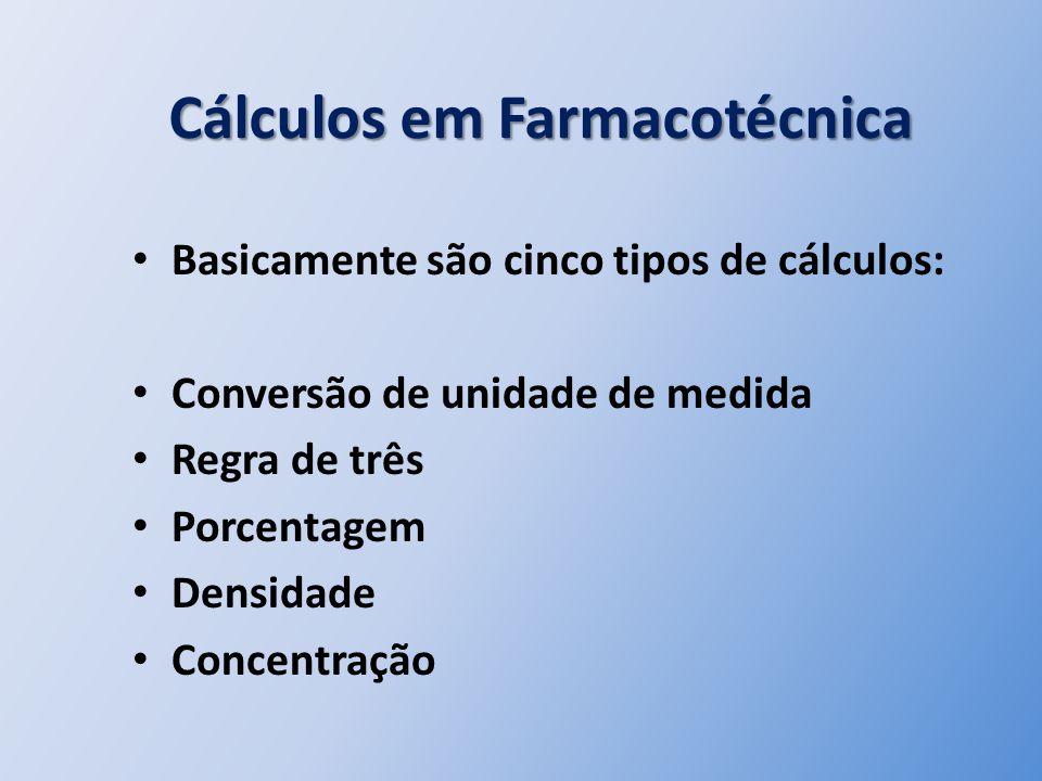 Cálculos em Farmacotécnica