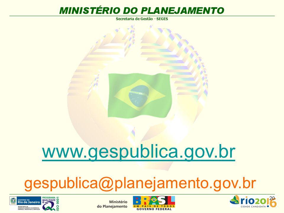 www.gespublica.gov.br gespublica@planejamento.gov.br