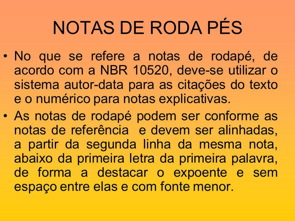 NOTAS DE RODA PÉS