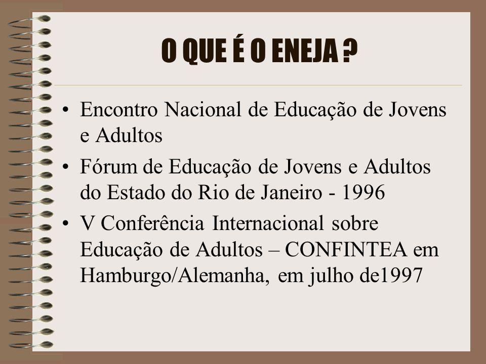 O QUE É O ENEJA Encontro Nacional de Educação de Jovens e Adultos