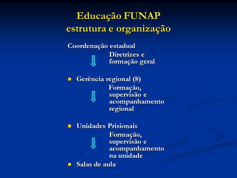 Educação FUNAP estrutura e organização