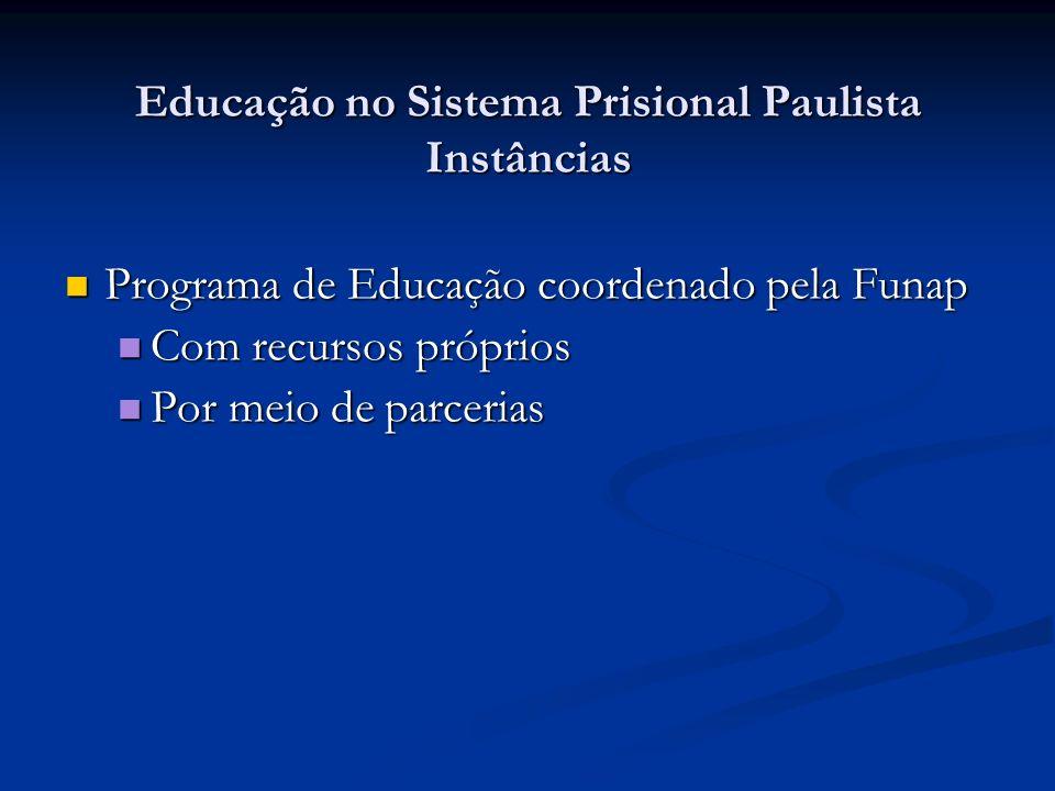 Educação no Sistema Prisional Paulista Instâncias