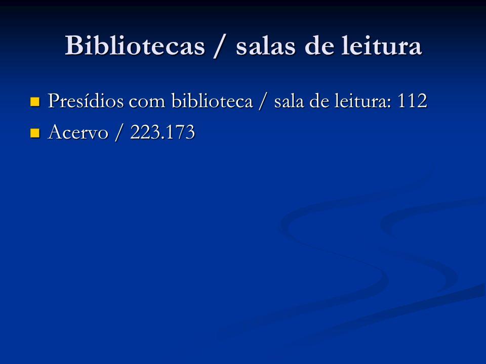 Bibliotecas / salas de leitura