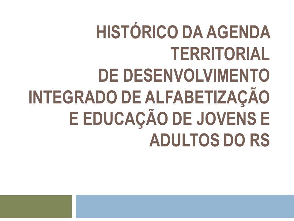 HISTÓRICO DA AGENDA TERRITORIAL DE DESENVOLVIMENTO INTEGRADO DE ALFABETIZAÇÃO E EDUCAÇÃO DE JOVENS E ADULTOS DO RS