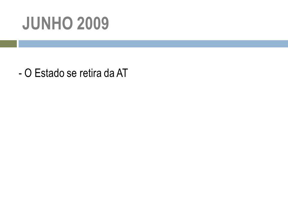 JUNHO 2009 - O Estado se retira da AT